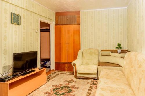 Гостиная зона в Apartment TwoPillows on Lenina 56