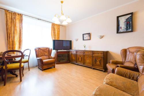 Гостиная зона в Stylish Europa near Moscow City