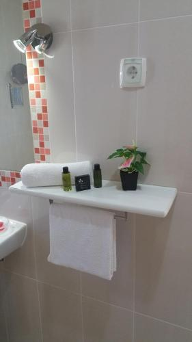 A bathroom at Apartamentos Apfel