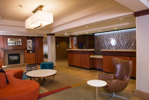 The lobby or reception area at Fairfield Inn & Suites Rapid City