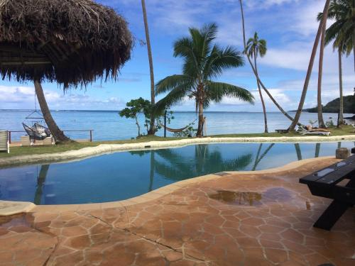 The swimming pool at or near Mango Bay Resort