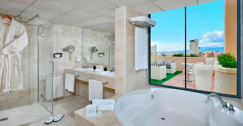 A bathroom at Melia Benidorm
