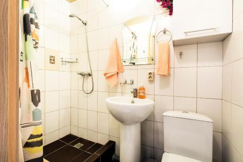 Ванная комната в Апартаменты Малая Охта
