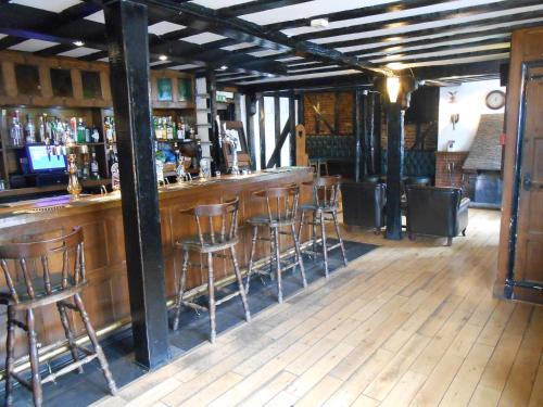 The lounge or bar area at The White Hart