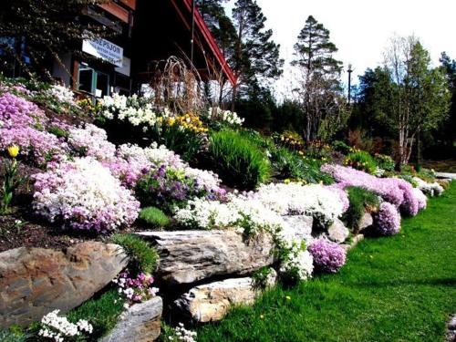 En hage utenfor Trolltun Hotel & Hytter