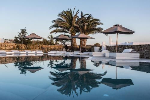 The swimming pool at or near Ostraco Suites