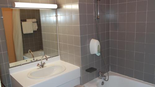 Salle de bains dans l'établissement Hôtel Le Tulipier