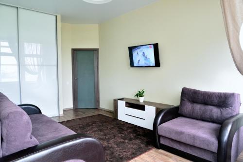Гостиная зона в Apartment on Fortovaya