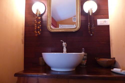 Salle de bains dans l'établissement La Claverie