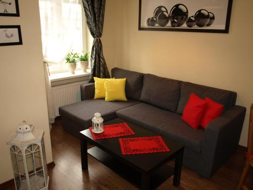 A seating area at Quiet-Apartments Centrum II