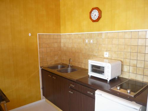 A kitchen or kitchenette at Apartment Océanide-9