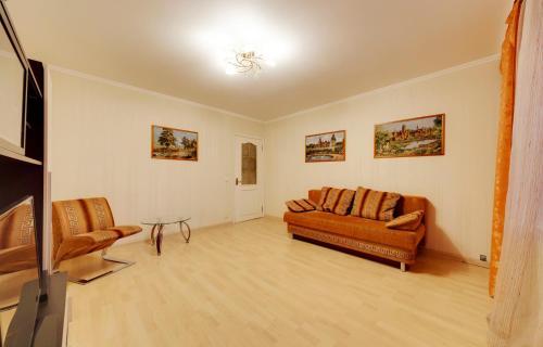 Гостиная зона в Apartment Prospekt Mira 182