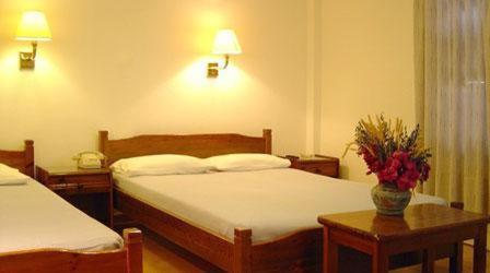 Ένα ή περισσότερα κρεβάτια σε δωμάτιο στο Naias