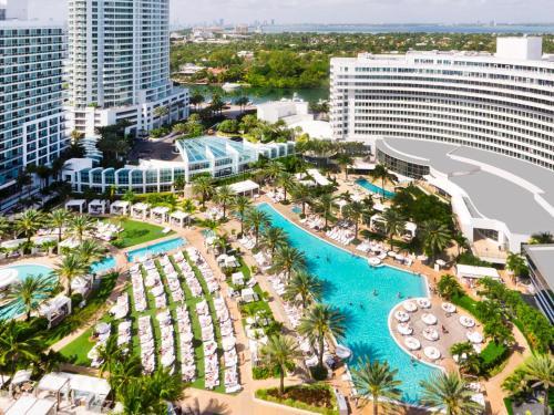 A bird's-eye view of Fontainebleau Miami Beach