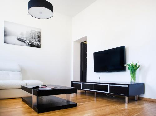 A television and/or entertainment center at Red Brick Apartments