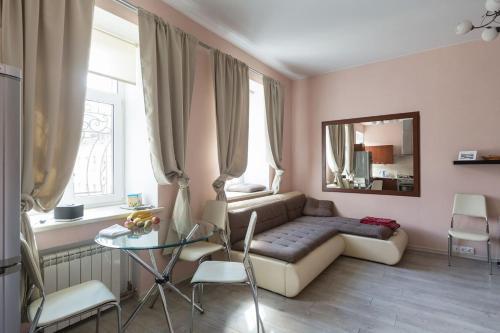 Гостиная зона в Modern and comfortable apartment-studio