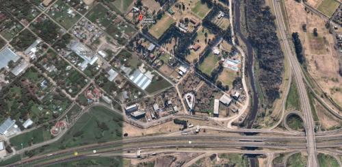 Una vista aérea de Cabañas La Morena