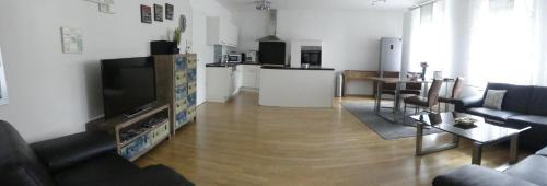 A seating area at Ferien Wohnung Soldic