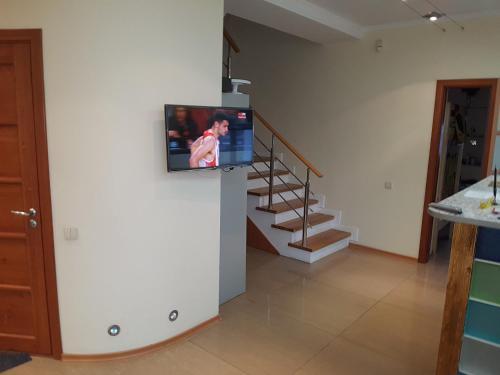 Телевизор и/или развлекательный центр в Старое Место Хостел