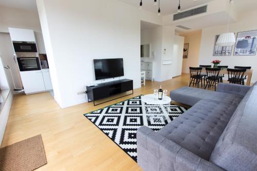 Część wypoczynkowa w obiekcie Komfortowy apartament Międzyzdroje