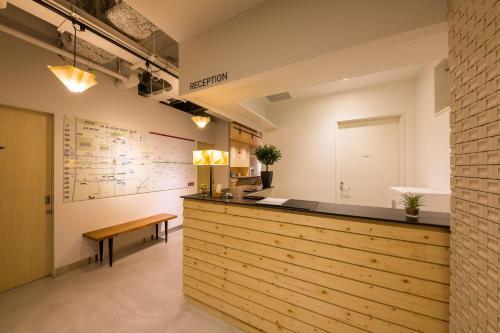 Lobby/Rezeption in der Unterkunft Grids Sapporo Hotel&Hostel