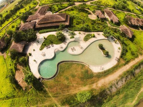 A bird's-eye view of Barahi Jungle Lodge