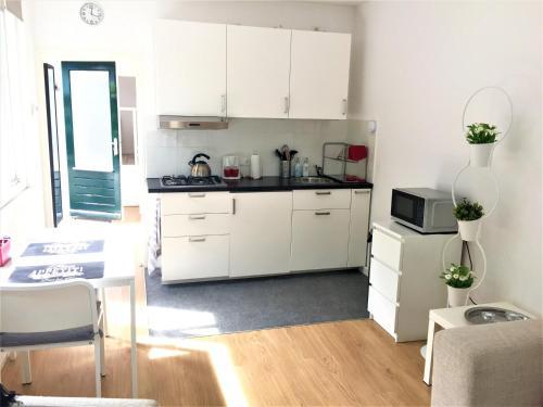 Een keuken of kitchenette bij Appartement Alicja