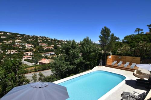 A view of the pool at Villa Roca or nearby