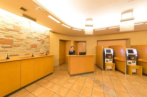 The lobby or reception area at R&B Hotel Umeda East