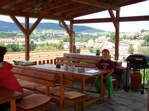 A restaurant or other place to eat at Penzion Svet