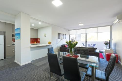 The lobby or reception area at Astra Apartments North Sydney