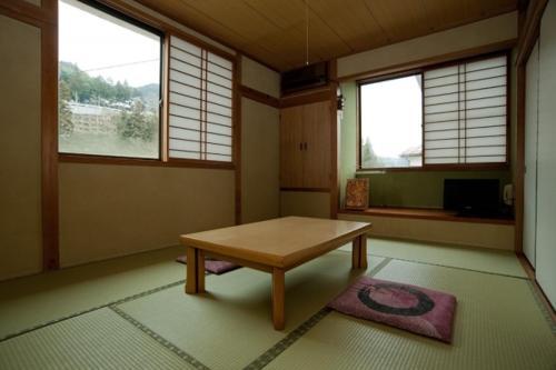 A seating area at Wakasagi No Yado