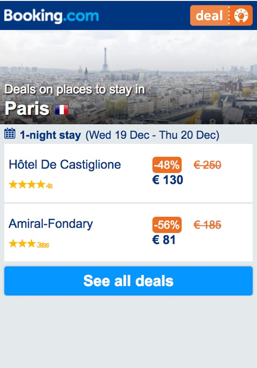 Deals finder widget showing property deals for London, England