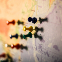 Map with pins - Photo by T.H. Chia on Unsplash