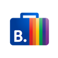 The Booking.com Travel Proud logo.