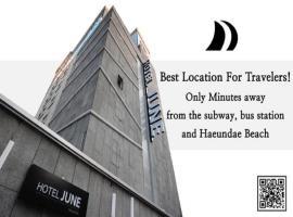 Hotel JUNE Haeundae, motel in Busan