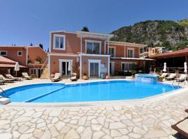 Angels Pool Studios and Apartments, hôtel avec piscine à Paleokastritsa
