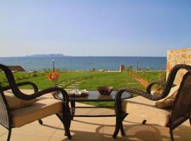 Sea View Beachfront Villa Maria, family hotel in Gouves