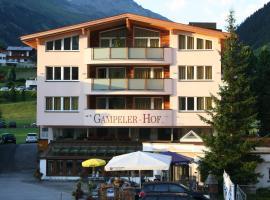 Gampeler Hof, hotel in Galtür
