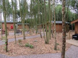 Riddings Wood lodges, campground in Alfreton