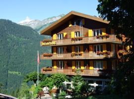 Hotel Bellevue-Wengen - Best view in town!、ヴェンゲンのホテル