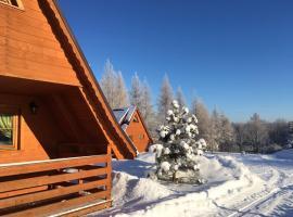 Czocha-Camping – hotel w pobliżu miejsca Zamek Czocha w mieście Leśna