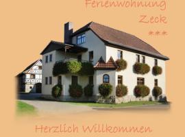 Ferienwohnung Zeck, apartment in Bad Staffelstein
