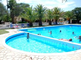 Happy Camp mobile homes in Karda Beach Camping and Bungalows, glamping site in Corfu