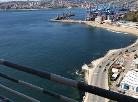 Departamento Vista cerro y mar, apartamento en Valparaíso