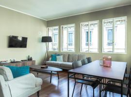 Brera Apartments in San Marco, camera con cucina a Milano