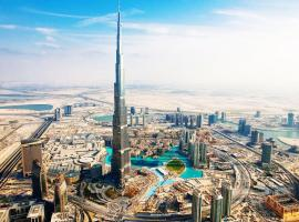 Dubai Downtown View 5, hotel with jacuzzis in Dubai