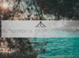 Fisherman's glamping village, pet-friendly hotel in Klimno