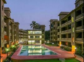 Poolside 1 BHK Apartment in Lush green Goan Resort, self catering accommodation in Siolim