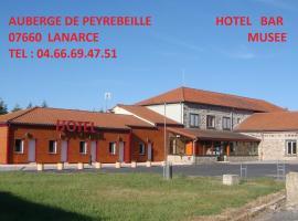 Auberge De Peyrebeille, hôtel à Lanarce